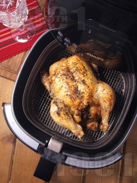Пълнено с оризова плънка пиле пържено без мазнина в AirFryer - снимка на рецептата